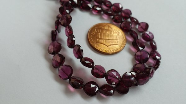 Rhodolite Straight Drilled Hearts Faceted