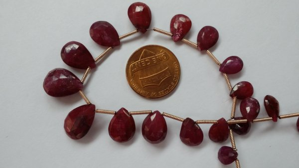 Ruby Hearts Faceted