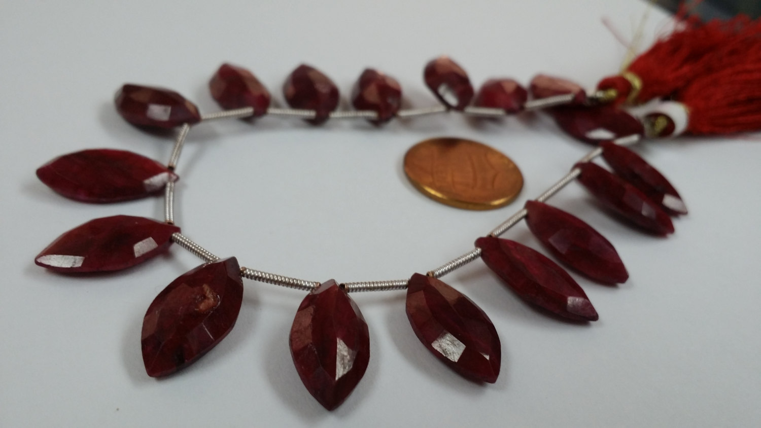 Ruby Marquise Faceted
