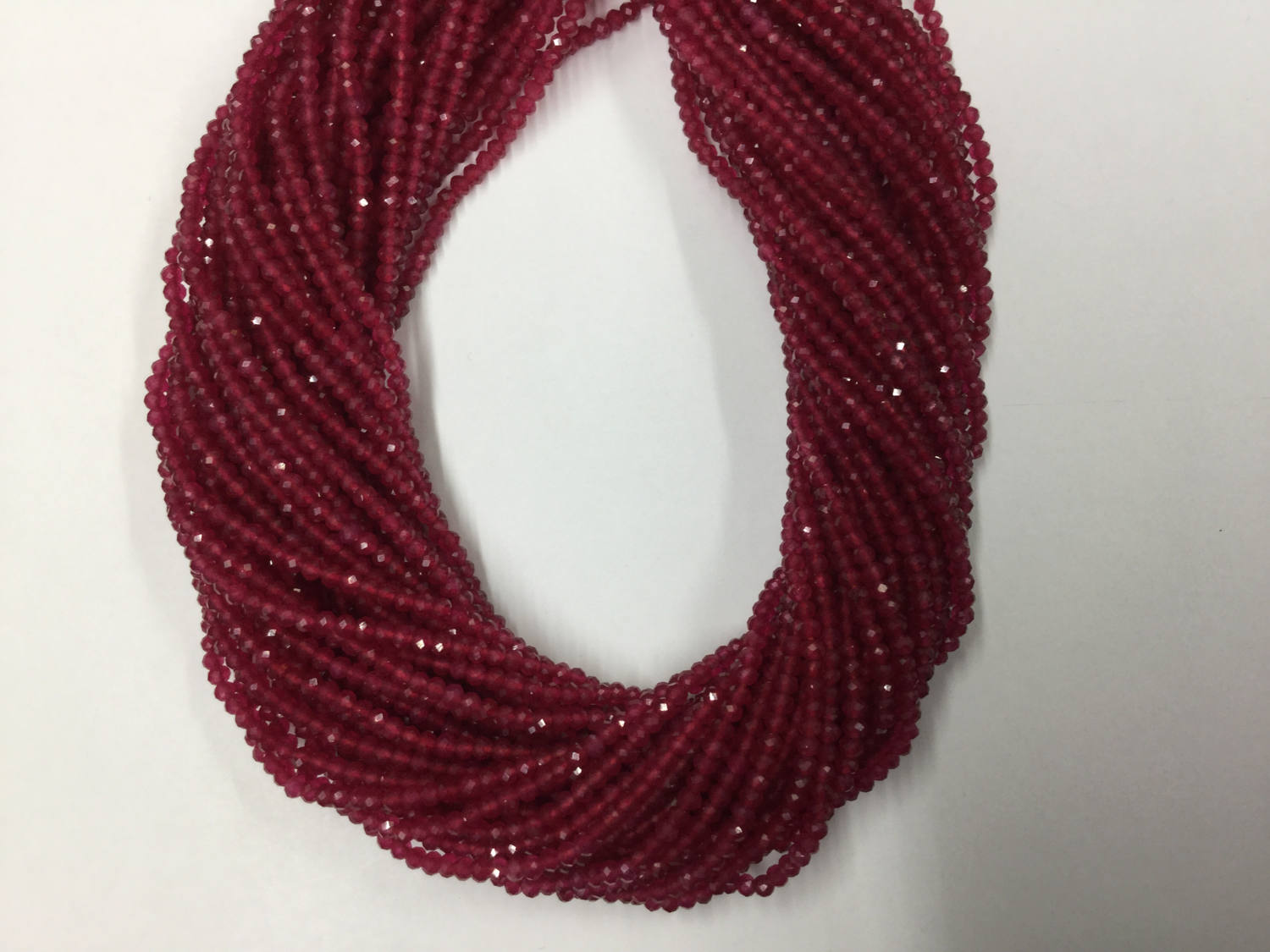 Ruby Onyx Rondelles Faceted