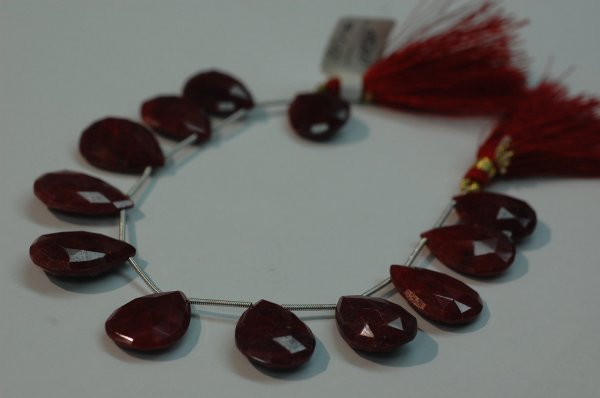 Ruby Pear Shape Faceted