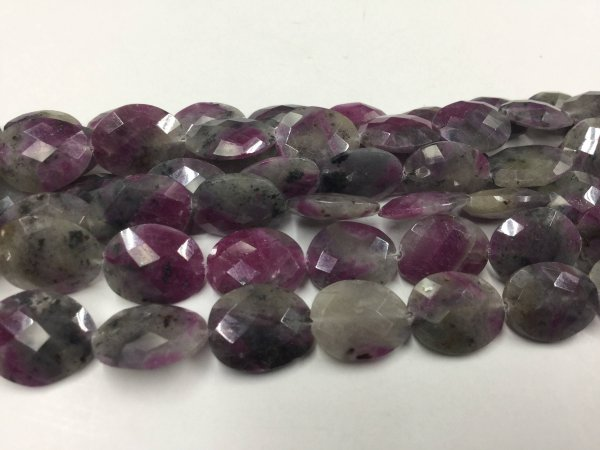 Ruby Zosite Ovals Faceted