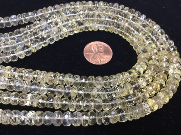 Scapolite Rondelles Faceted