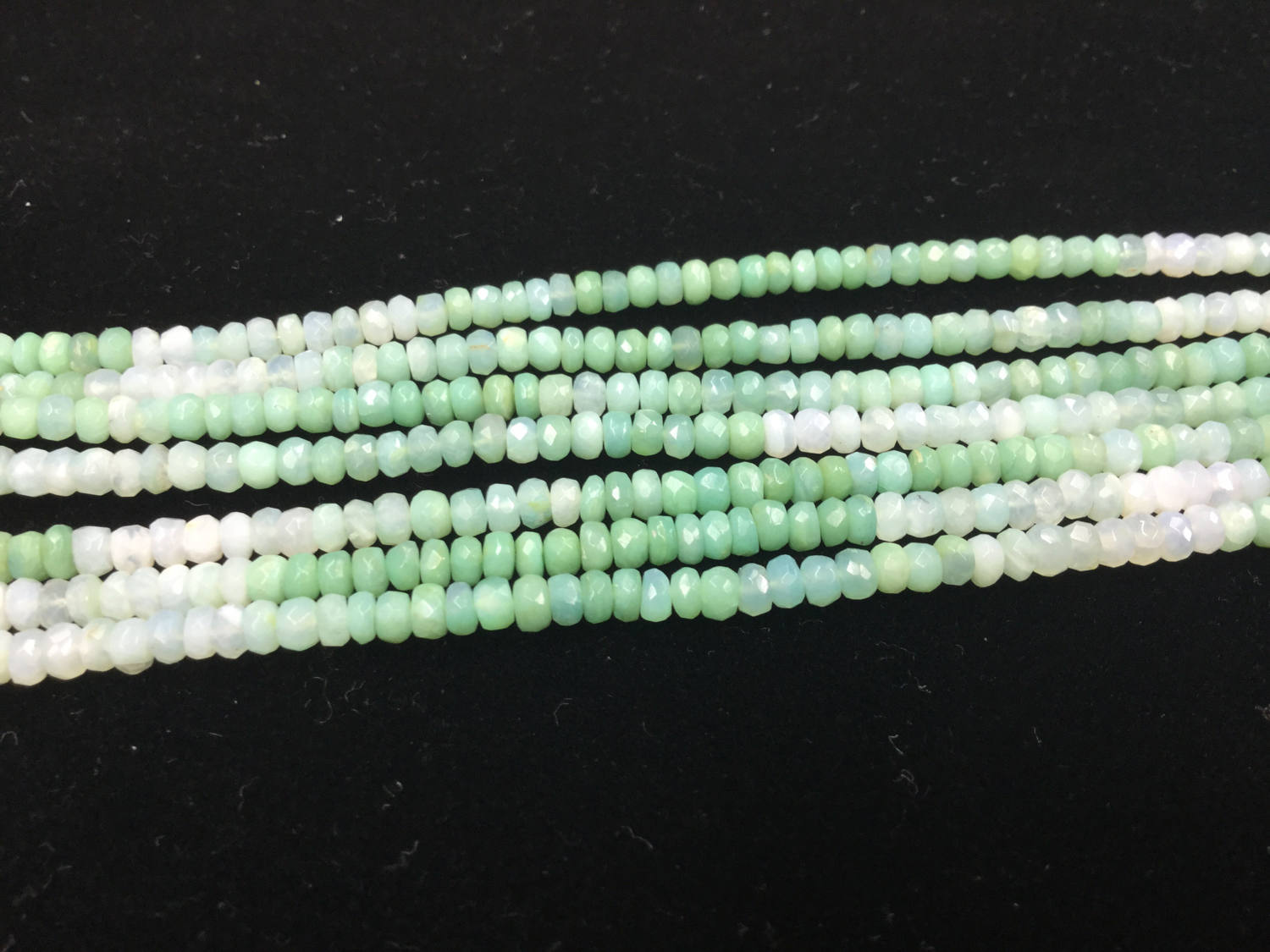 Shaded Green Opals Rondelles Faceted