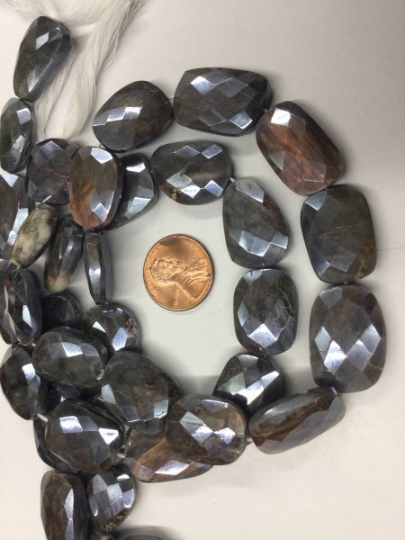Silver Moonstone Nuggets Faceted