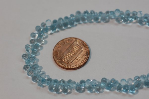 Sky Blue Topaz Small Drops Faceted