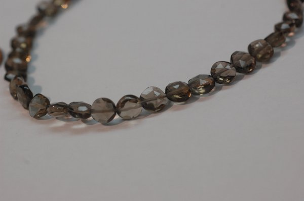 Smokey Quartz Coins Faceted