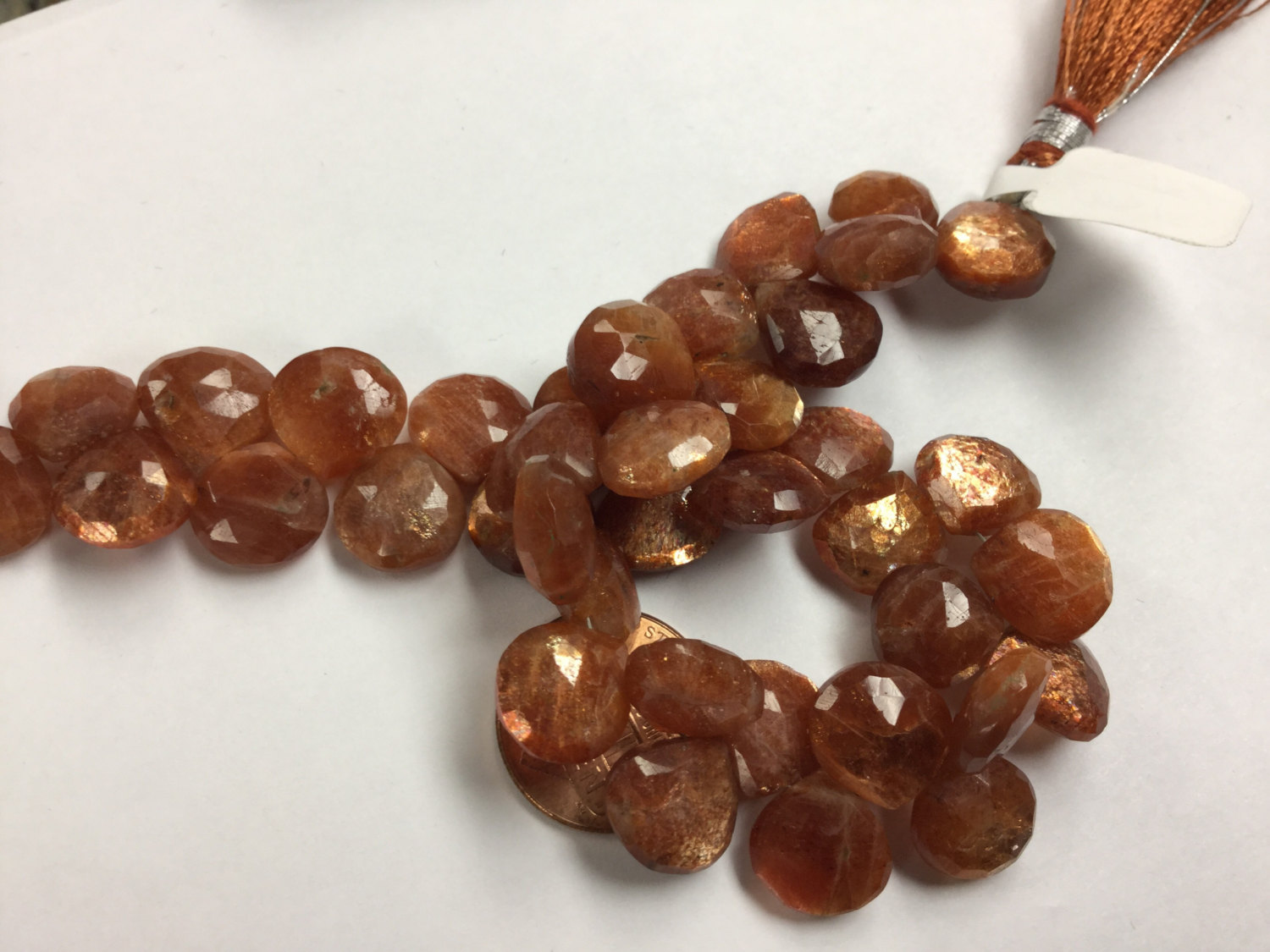 Sunstone Hearts Faceted