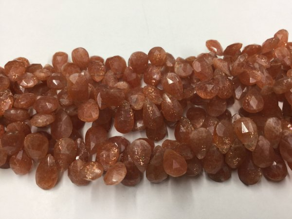 Sunstone Pears Faceted