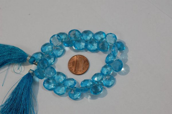 Swiss Blue Hydro Quartz  Heart Faceted