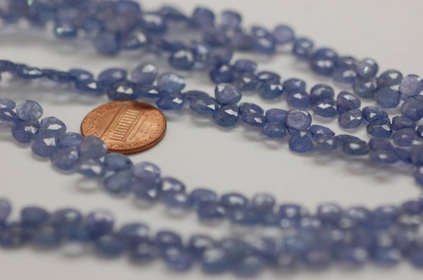 Tanzanite Hearts Faceted (NATURAL)