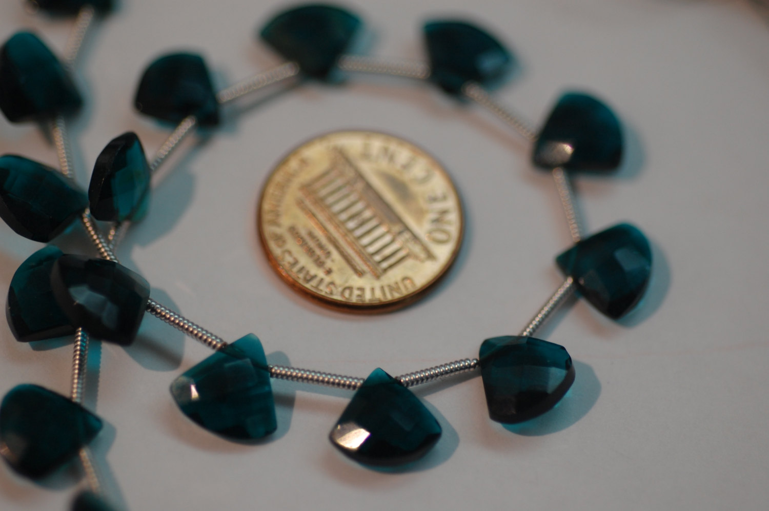 Teal Blue Hydro Quartz Fan Cut Checker Board