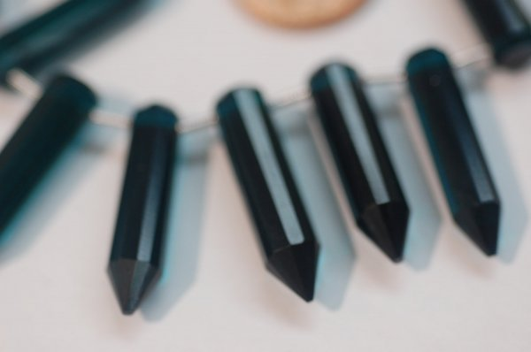 Teal Blue Hydro Quartz Pencil Cut Faceted