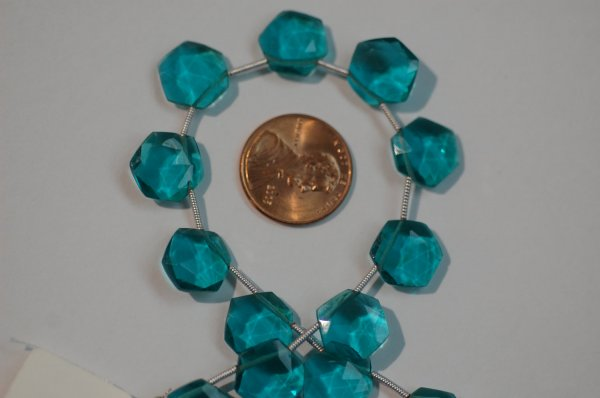 Teal Blue Octagon Hydro Faceted