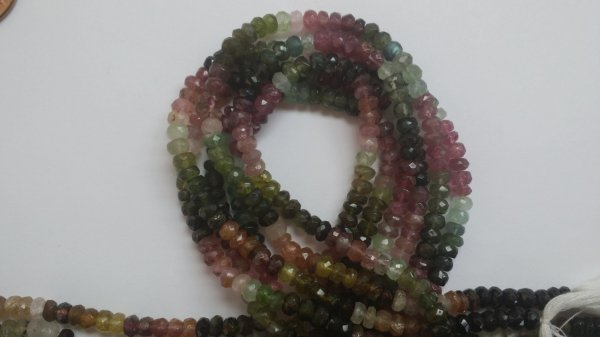 Tourmaline Rondelle Faceted