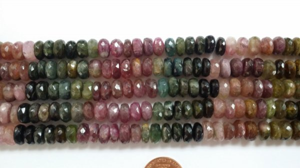 Tourmaline Rondelles Faceted