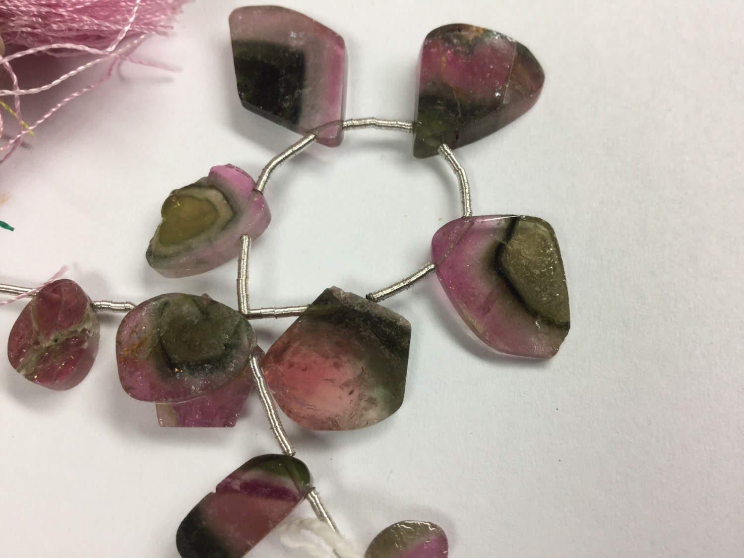 Tourmaline Slices Faceted