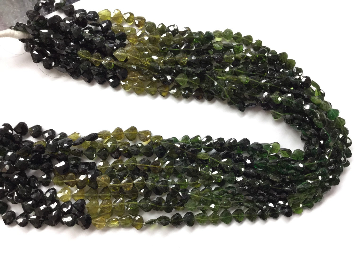 Tourmaline Straight Drilled Hearts Faceted