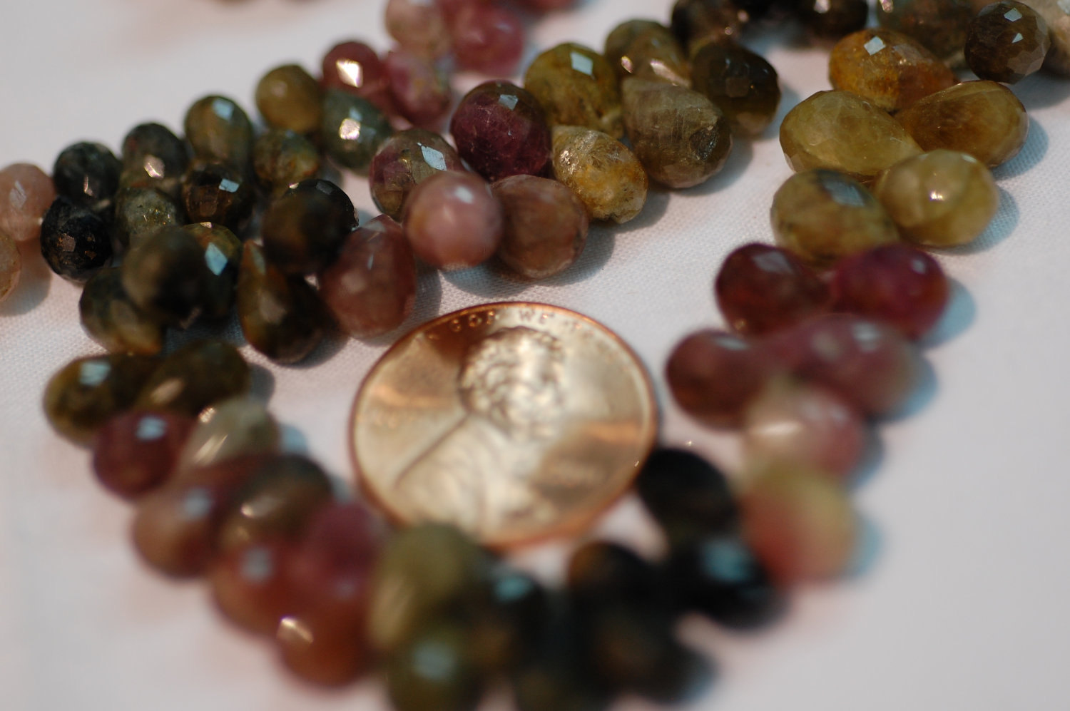 Tourmaline Watermelon Drops Faceted