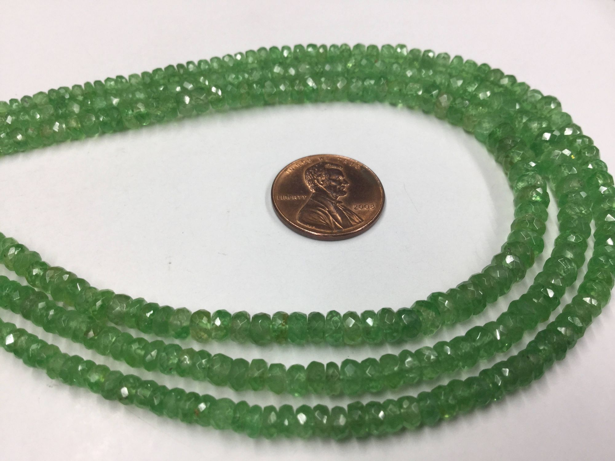 Tsavorite Rondelles Faceted
