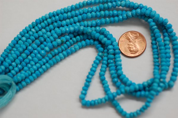 Turquoise Rondelle Faceted