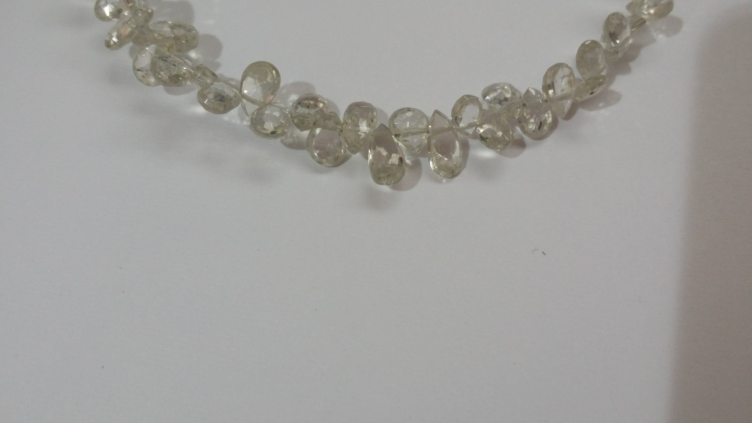 Very Light Champagne Zircon Pear Faceted