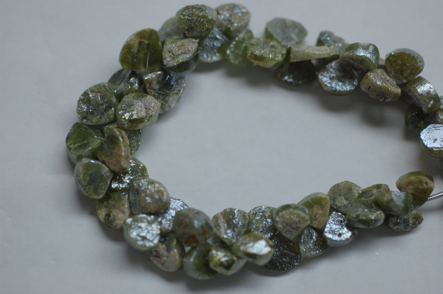Vesuvianite Hearts Faceted (Coated)
