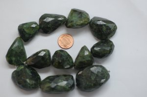 Vesuvianite Large Nuggets Faceted