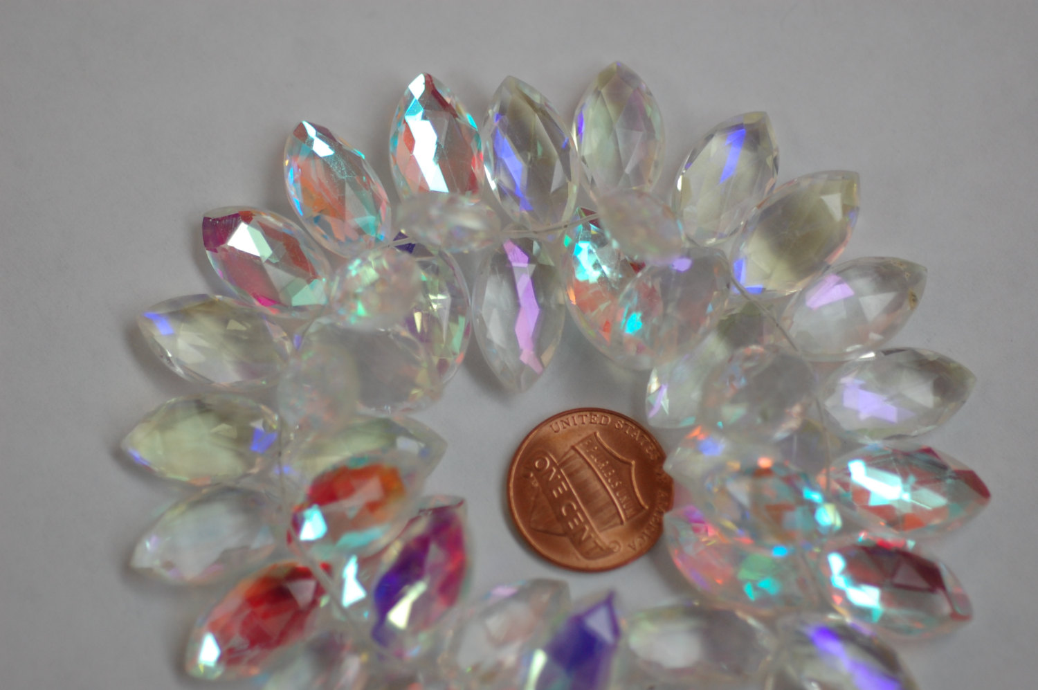 White Mystic Quartz Marquise Faceted