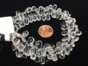 White Topaz Pears Faceted
