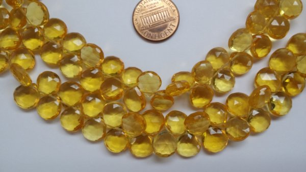 Yellow Hearts Faceted