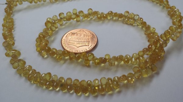 Yellow Madagascar Sapphire Drops